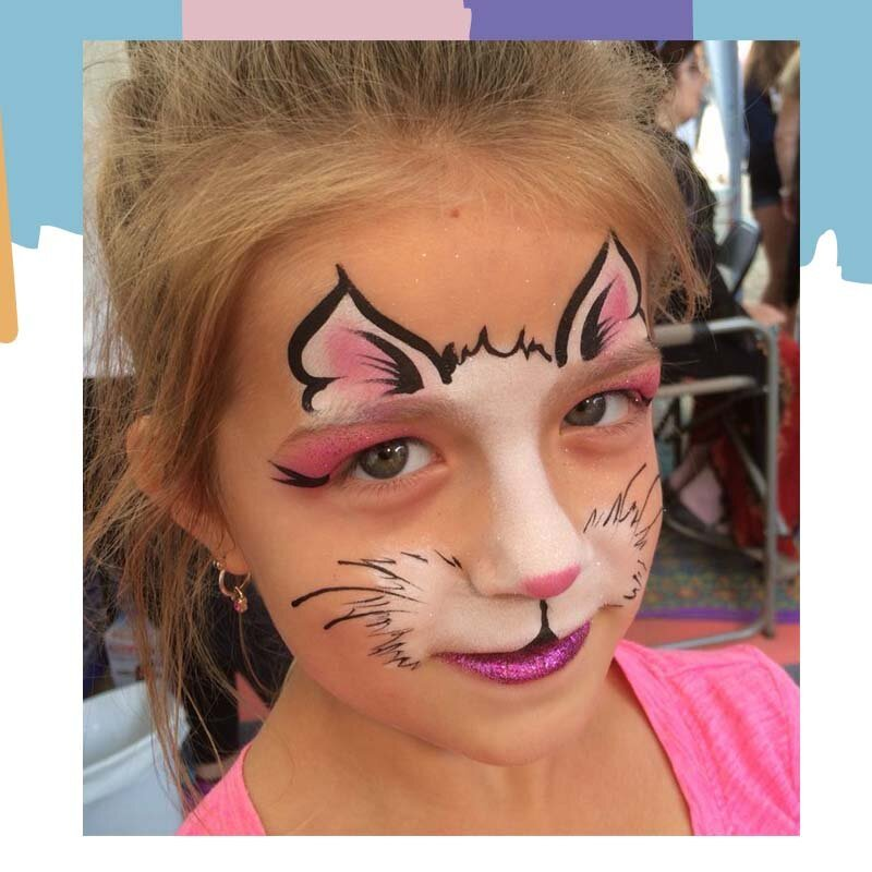 cat face paint for girls