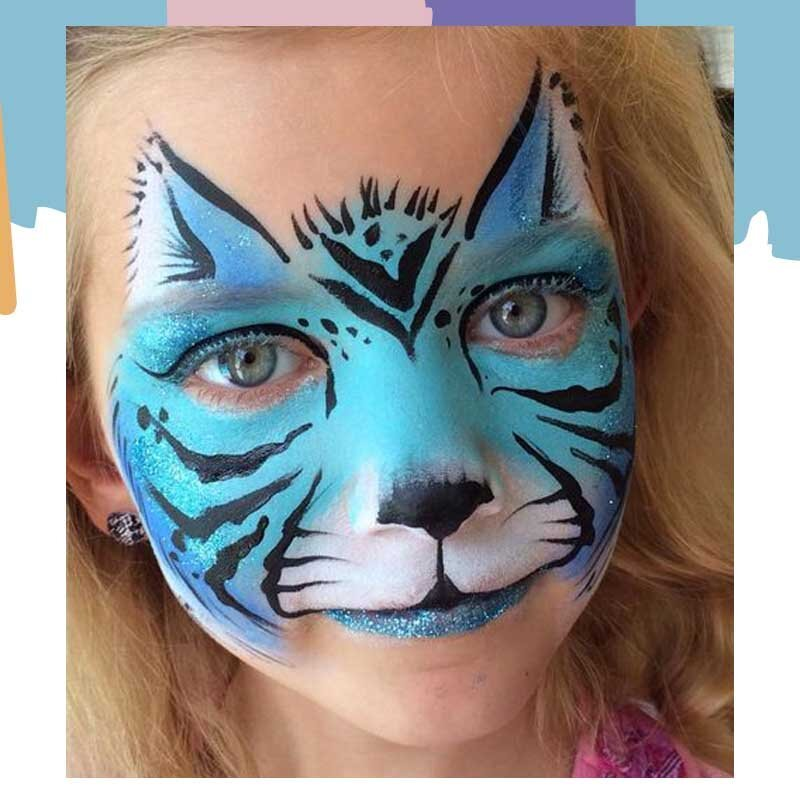 cat face painting design